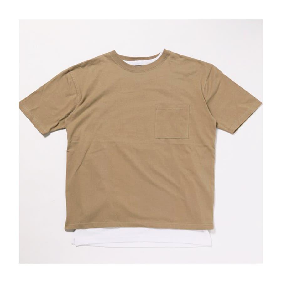 2枚セット アンサンブル ポケ付きビッグTシャツ×ロングタンクトップ 4