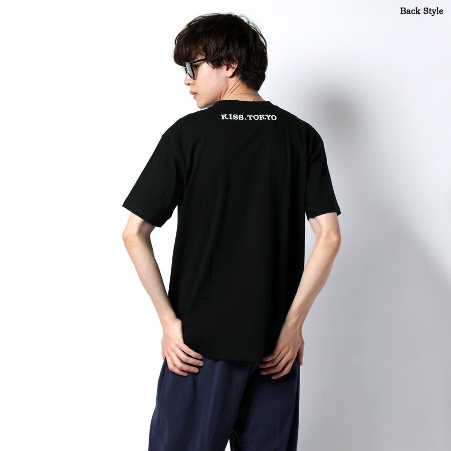 半袖Tシャツ メンズ 夏 LIPロゴ プリント バックプリント レディース tシャツ ペア プリントTシャツ【KISS,TOKYO キストーキョー】 3