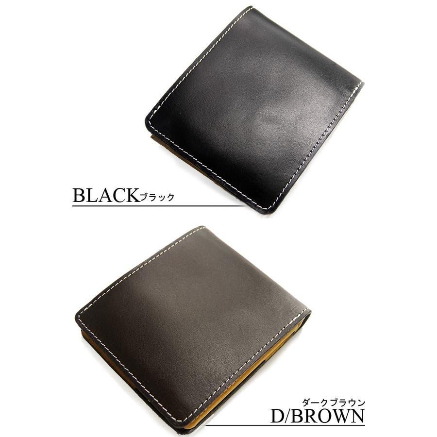 牛革 本革財布 財布 二つ折り メンズ サイフさいふ ブランド 7