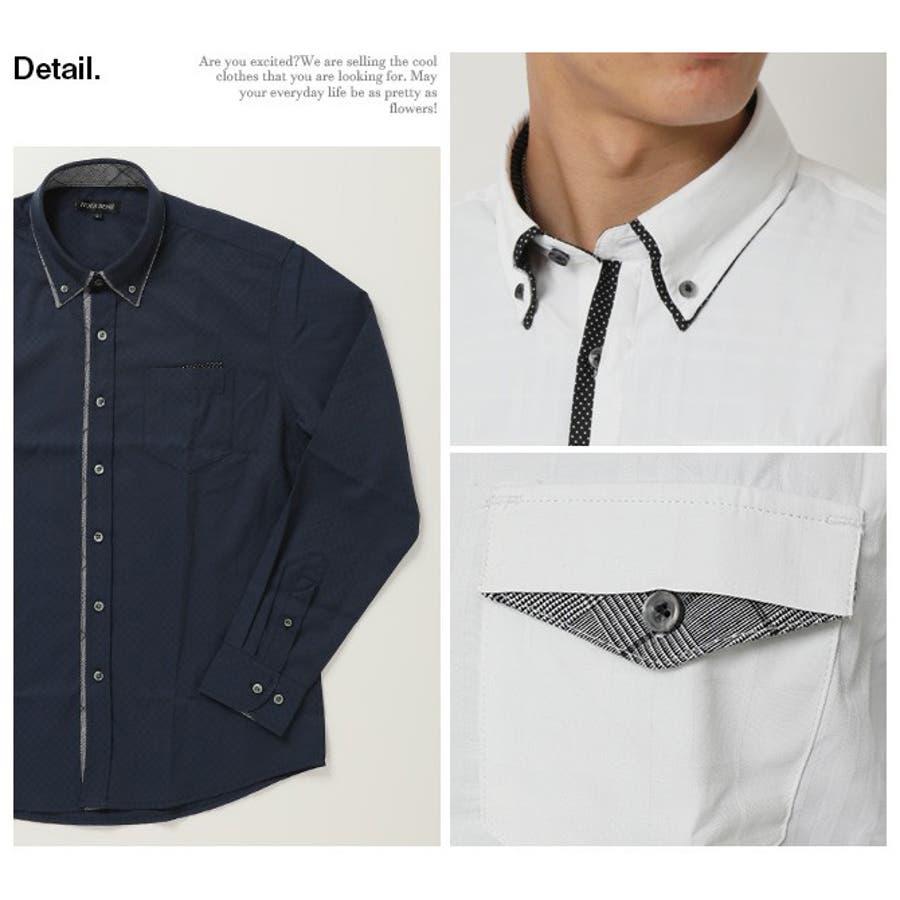 2枚衿 ドビー織り ボタンダウンシャツ 4
