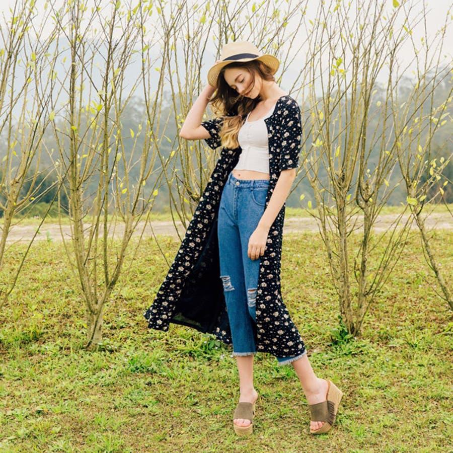 良かったぁ PAZZO 花柄ワンピース - Floral Long Dress -  P40201187 解毒