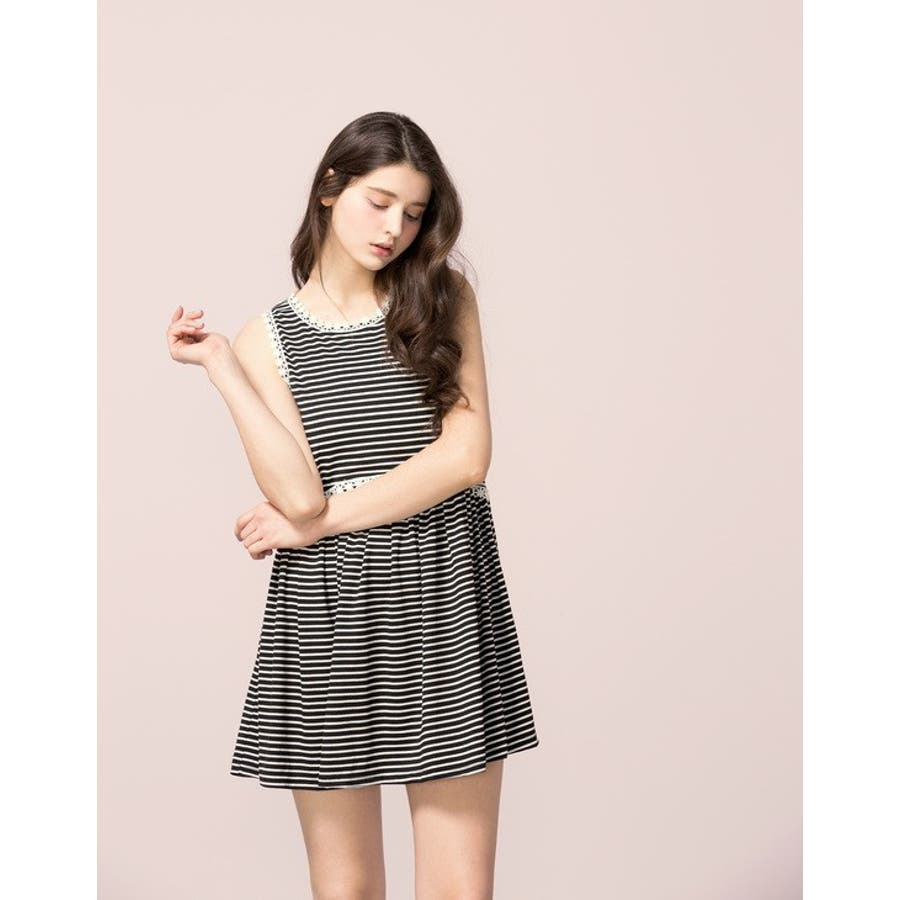 買うなら今! PAZZO 花柄ワンピース - Picnic Style Stripes Floral Dress -  P40201220 提携