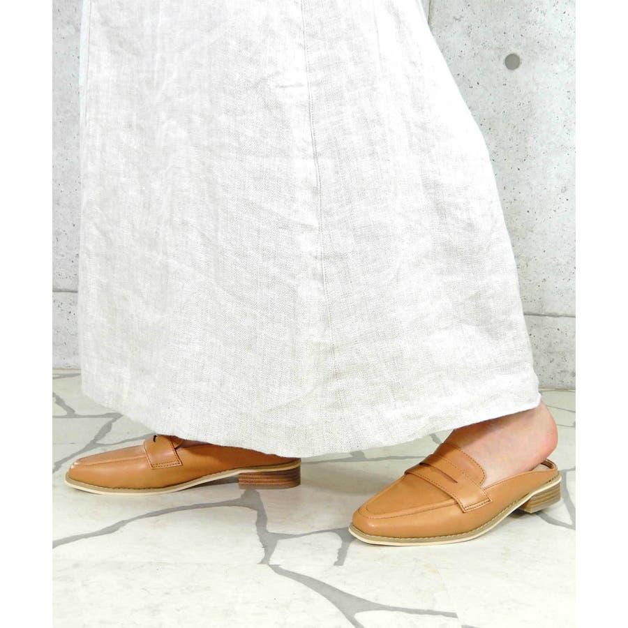 コインローファーバブーシュ/スリッパサンダル 【 minia ミニア 20SS新作 】ローファー ドレスシューズ バブーシュローヒールスリッパ パンプス 歩きやすい痛くないレディース シューズ 靴 7