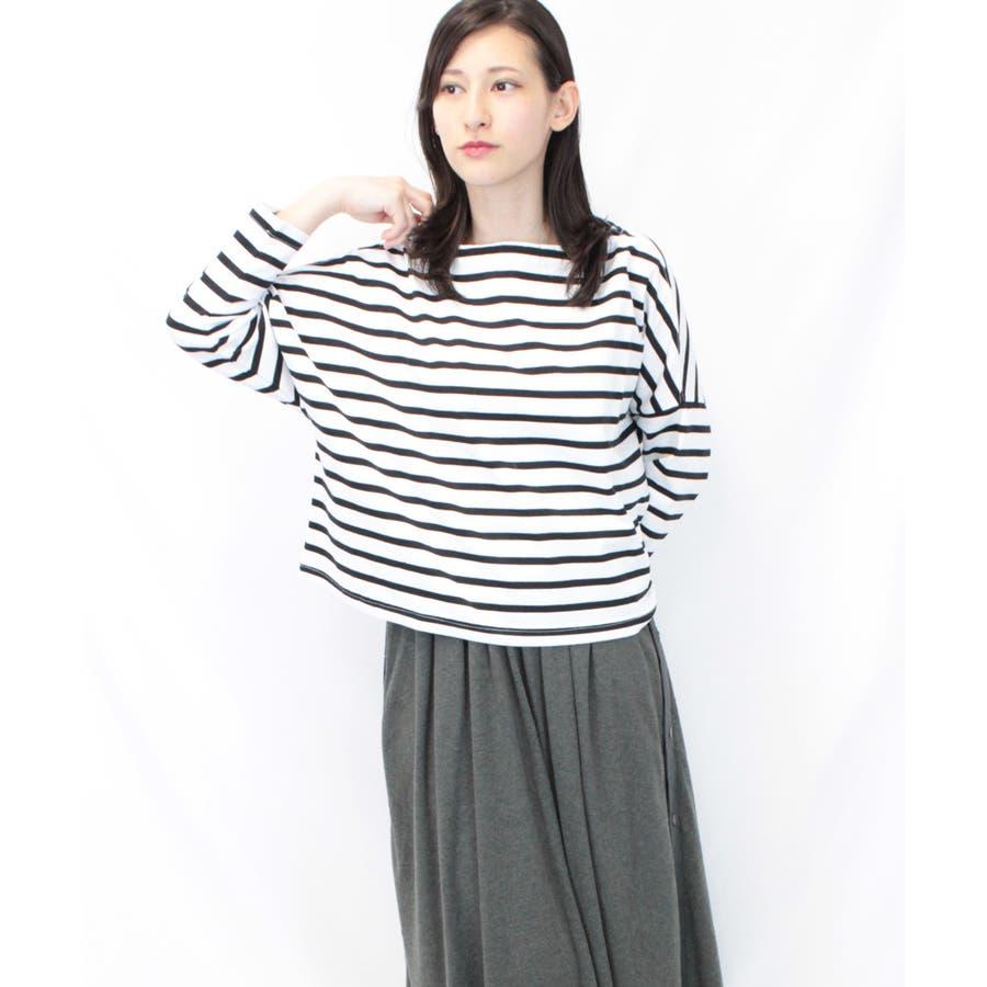 ボーダーボートネックバスクTシャツ 2