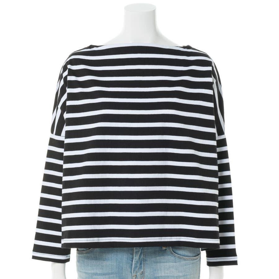 ボーダーボートネックバスクTシャツ 4