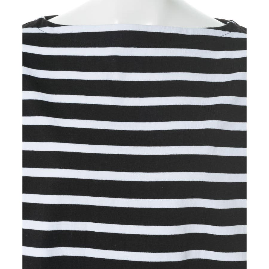 ボーダーボートネックバスクTシャツ 6