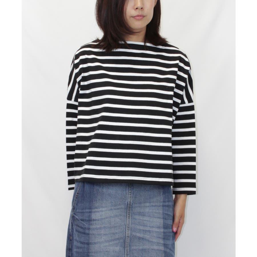 ボーダーボートネックバスクTシャツ 22