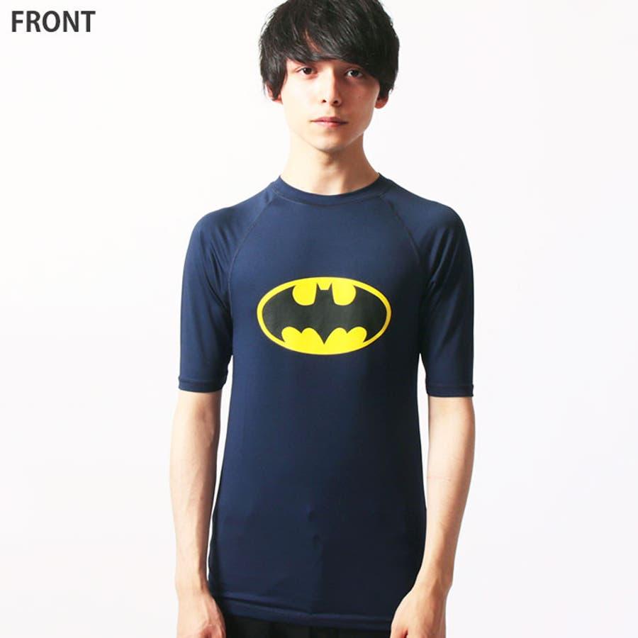 メンズ バットマン 半袖ラッシュガード Tシャツ「BS39-105」【MG50】 10