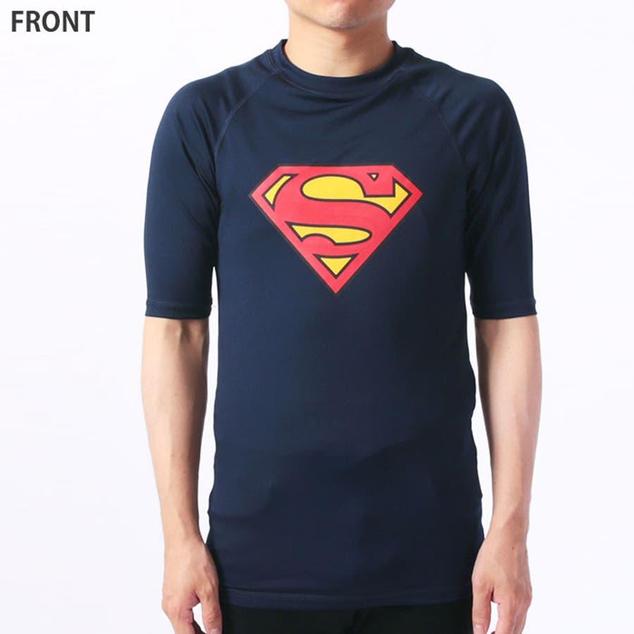 メンズ スーパーマン半袖ラッシュガード Tシャツ 「BS39-106」【MG50】 10