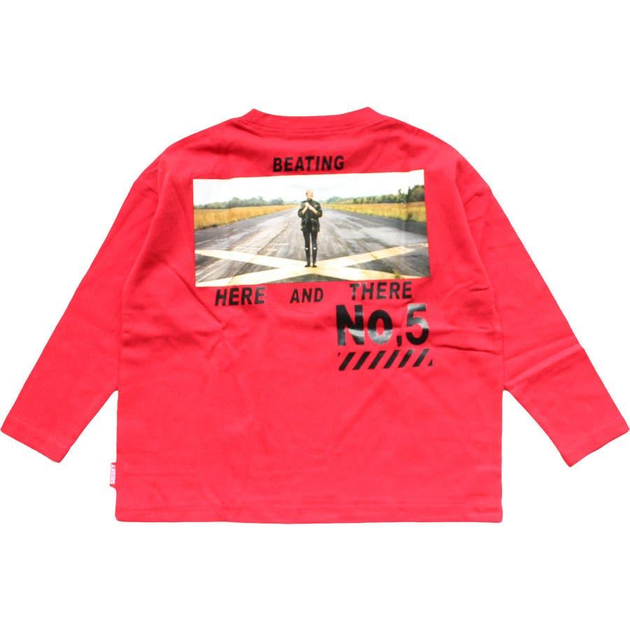 キッズ 子供服 Tシャツ ロンT トップス ビッグ BIG 男の子 女の子 ボーイズ ガールズ プリント フォト 画像 グラフィックジュニア ロゴ ストリート ロック 韓国子供服 110cm 120cm 130cm 140cm 150cm160cm 「140-04.05」 94