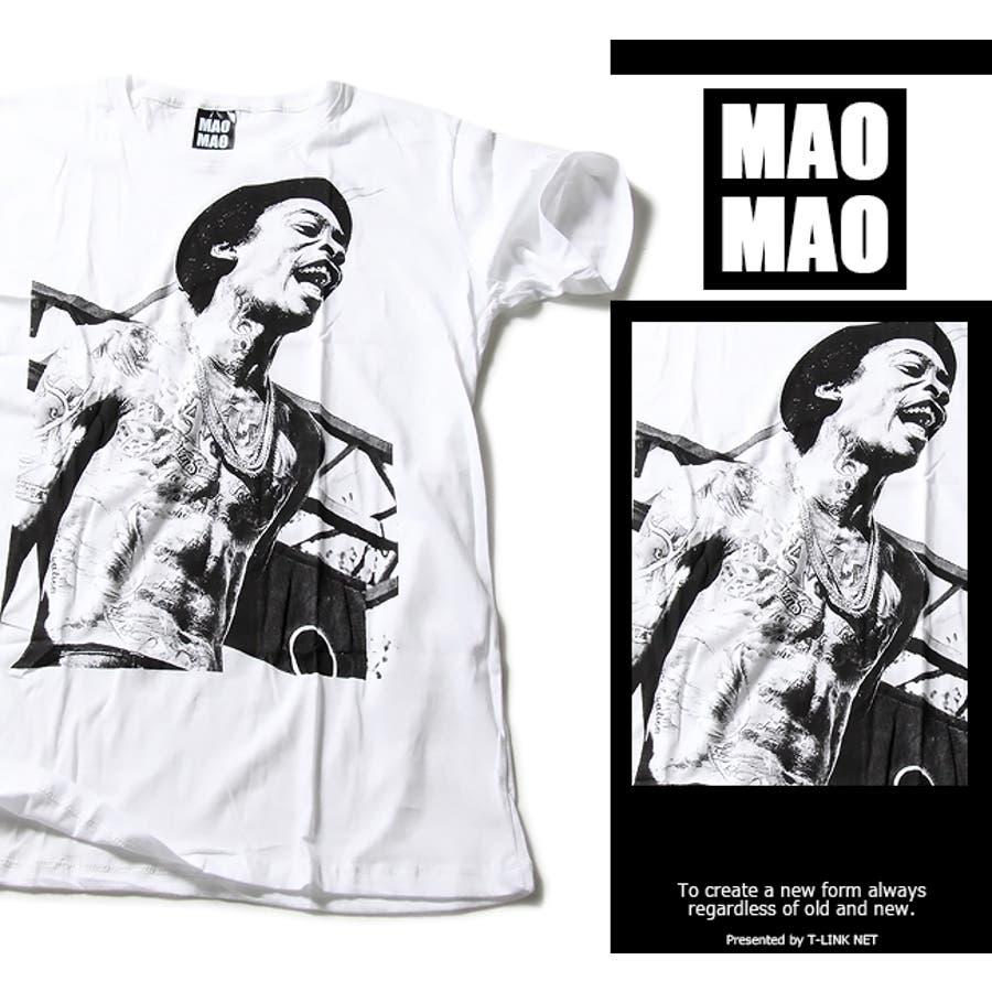 MAOMAO デザインTシャツ ギャングスター【サブリメーション Tシャツ ストリート系 デザイン