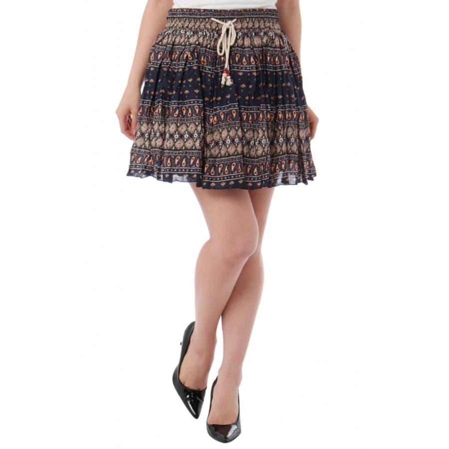 いい感じこんなコーデ AZUL by moussy ゴムシャーリングギャザースカート AZUL by moussy   アズールバイマウジー MARKDOWN  スカート 春 場末