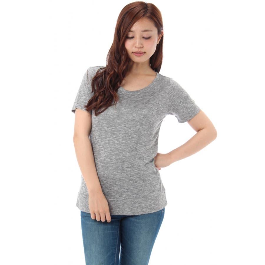 最高です! AZUL ENCANTO 杢basic Tシャツ AZUL by moussy   アズール バイマウジー MARKDOWN  トップス 春 群衆