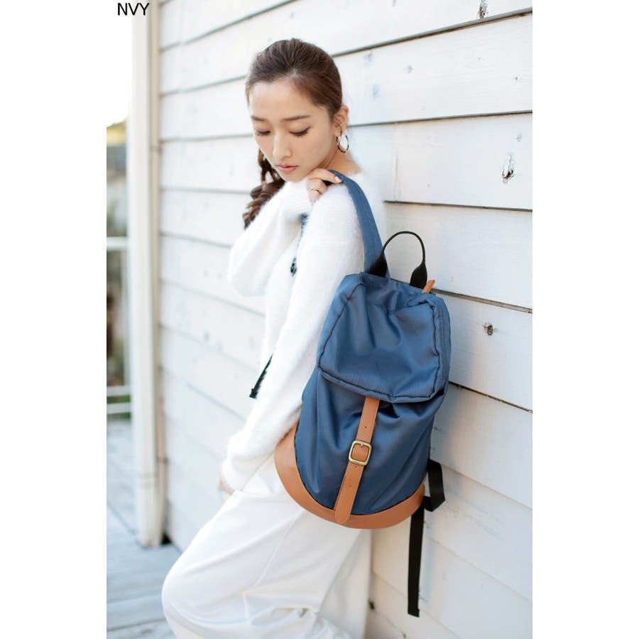 AZUL by moussy 合皮ベルトバックパック AZUL by moussy アズール バイマウジー レディース バッグバッグ 誤飲