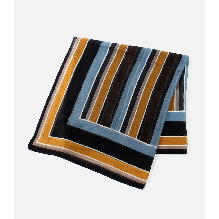 パネルマルチストライプスカーフ 22