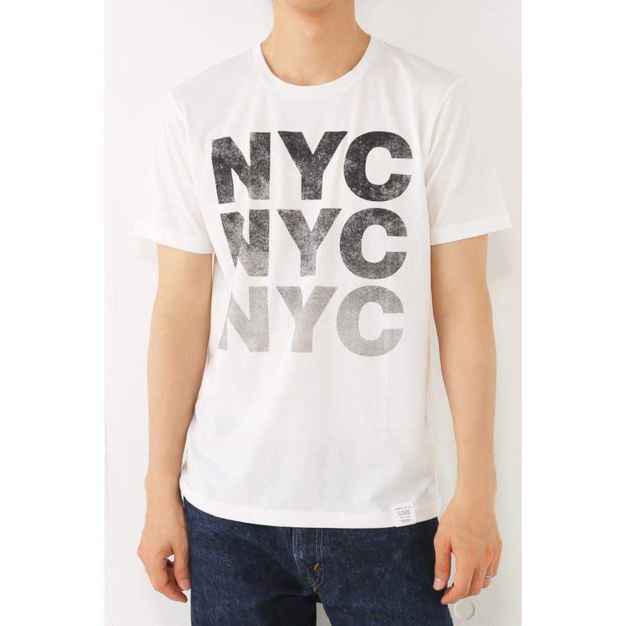 コスパなメンズファッション メンズファッション通販 AZUL by moussy TC天竺3段NYCクルーネック半袖T AZUL by moussy アズール バイマウジー メンズ トップス プリント MARKDOWN 倍量