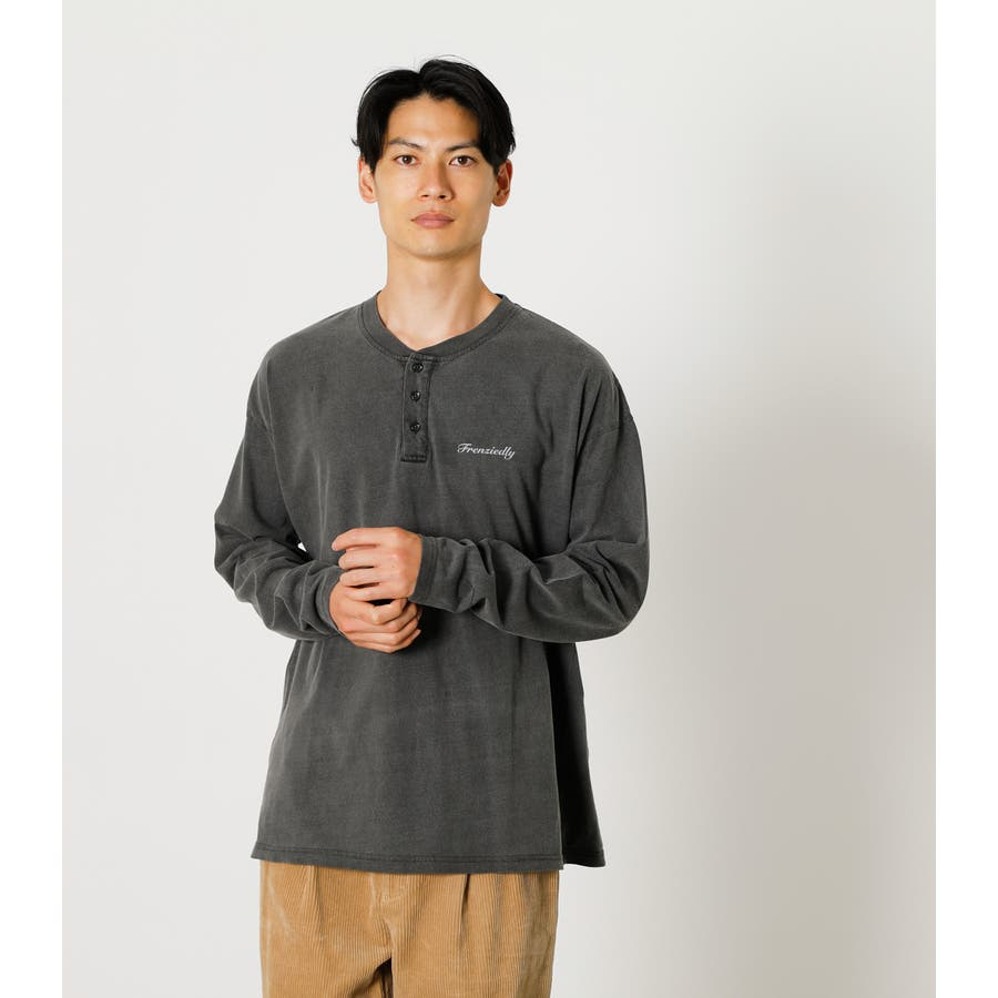 PIGMENT HENLEY LONG TEE/ピグメントヘンリーロングTシャツ 21