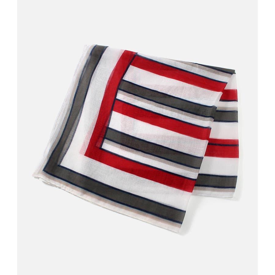 パネルマルチストライプスカーフ 1
