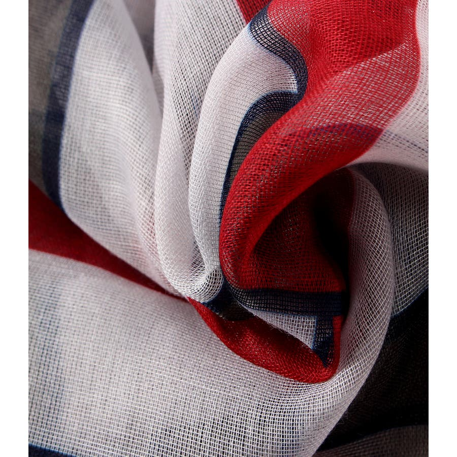 パネルマルチストライプスカーフ 4