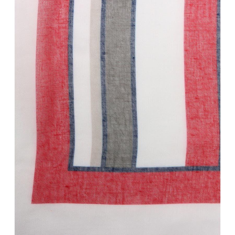 パネルマルチストライプスカーフ 5