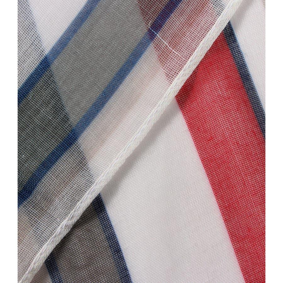 パネルマルチストライプスカーフ 6