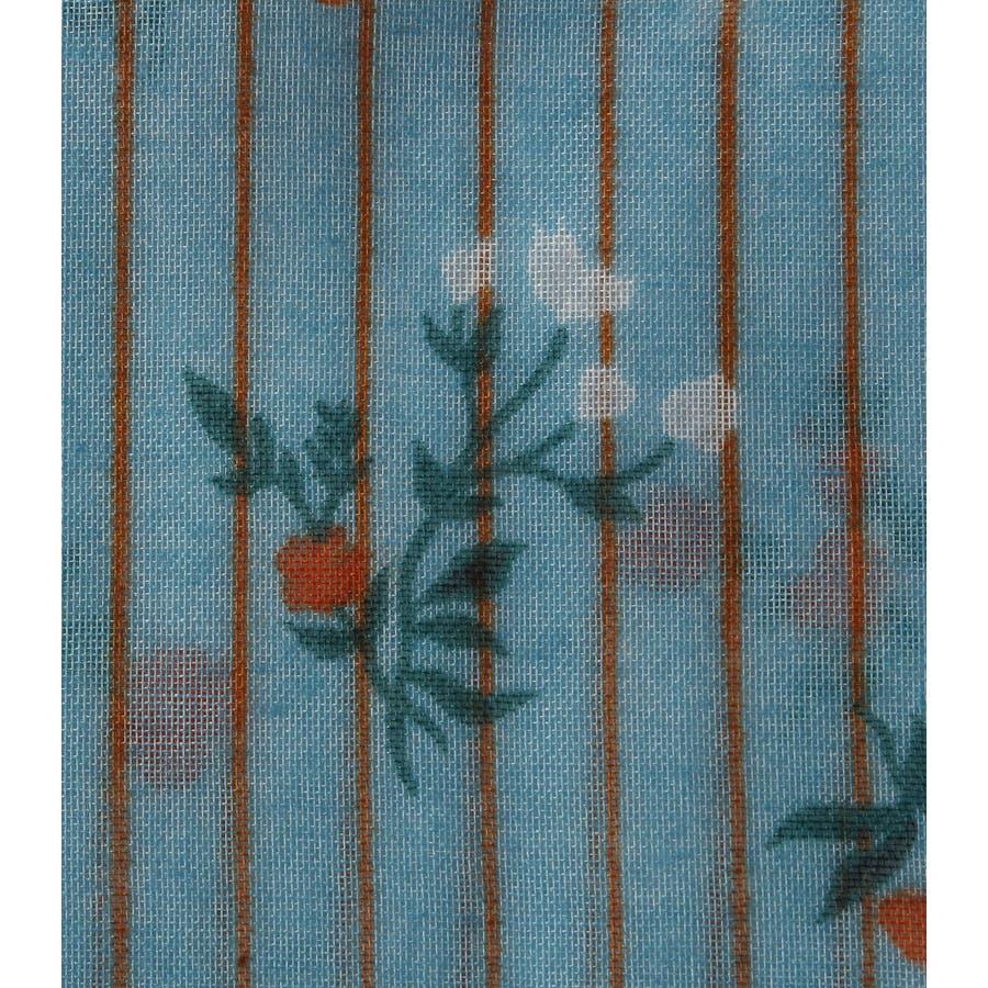 ストライプ小花柄スカーフ 6