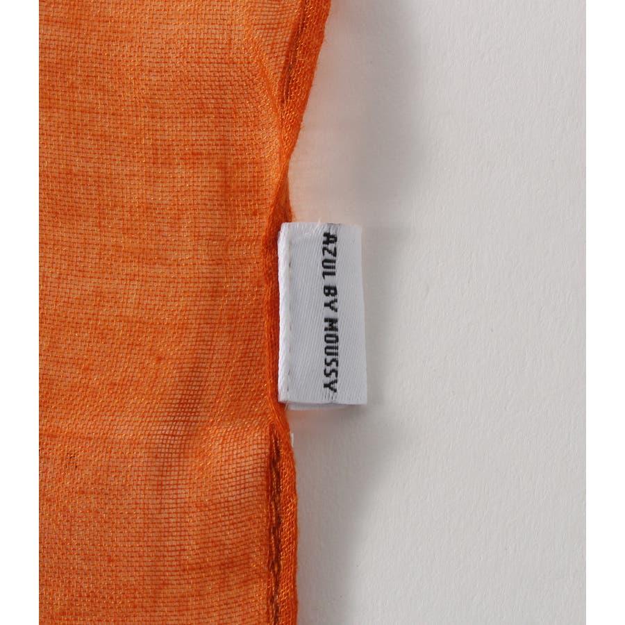 ストライプ小花柄スカーフ 7