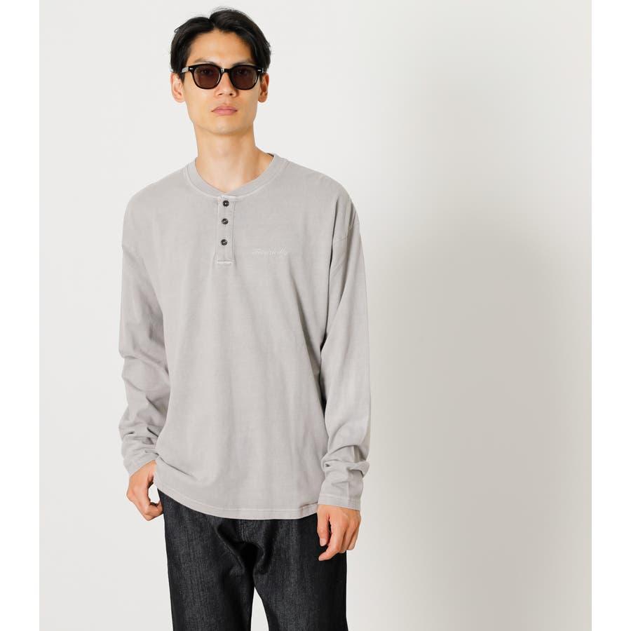 PIGMENT HENLEY LONG TEE/ピグメントヘンリーロングTシャツ 1