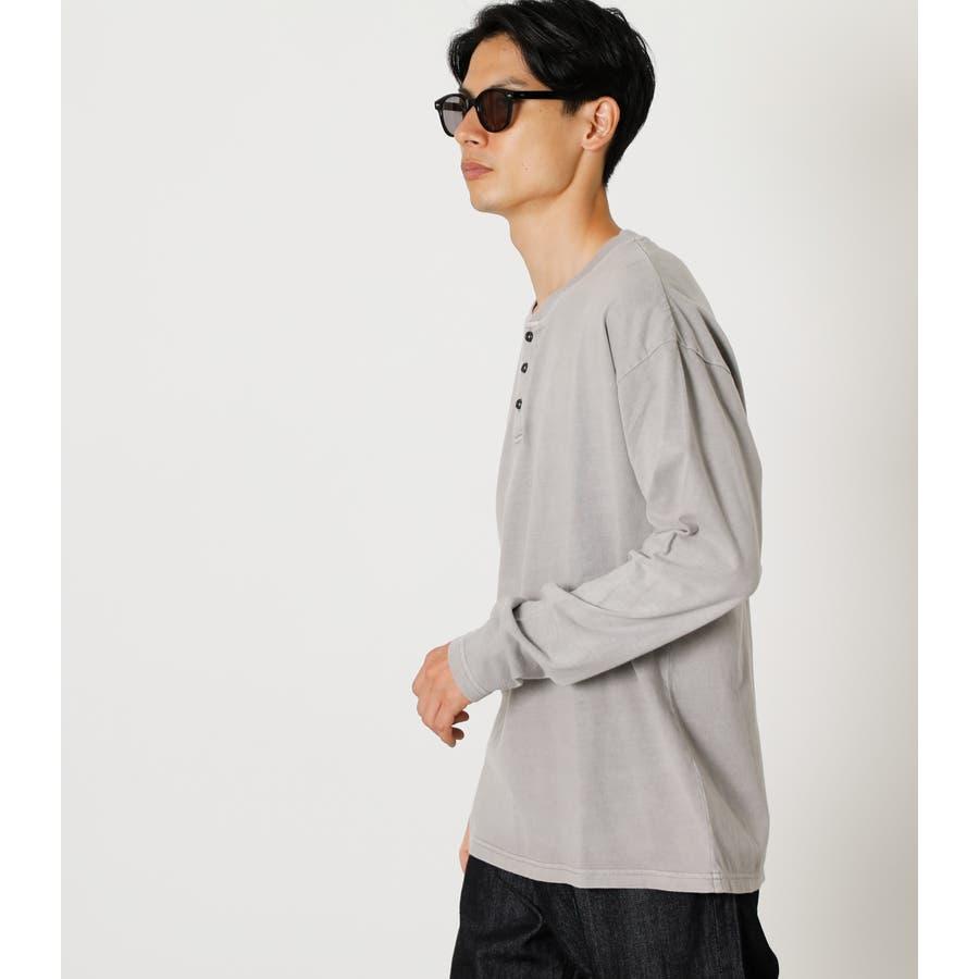 PIGMENT HENLEY LONG TEE/ピグメントヘンリーロングTシャツ 2