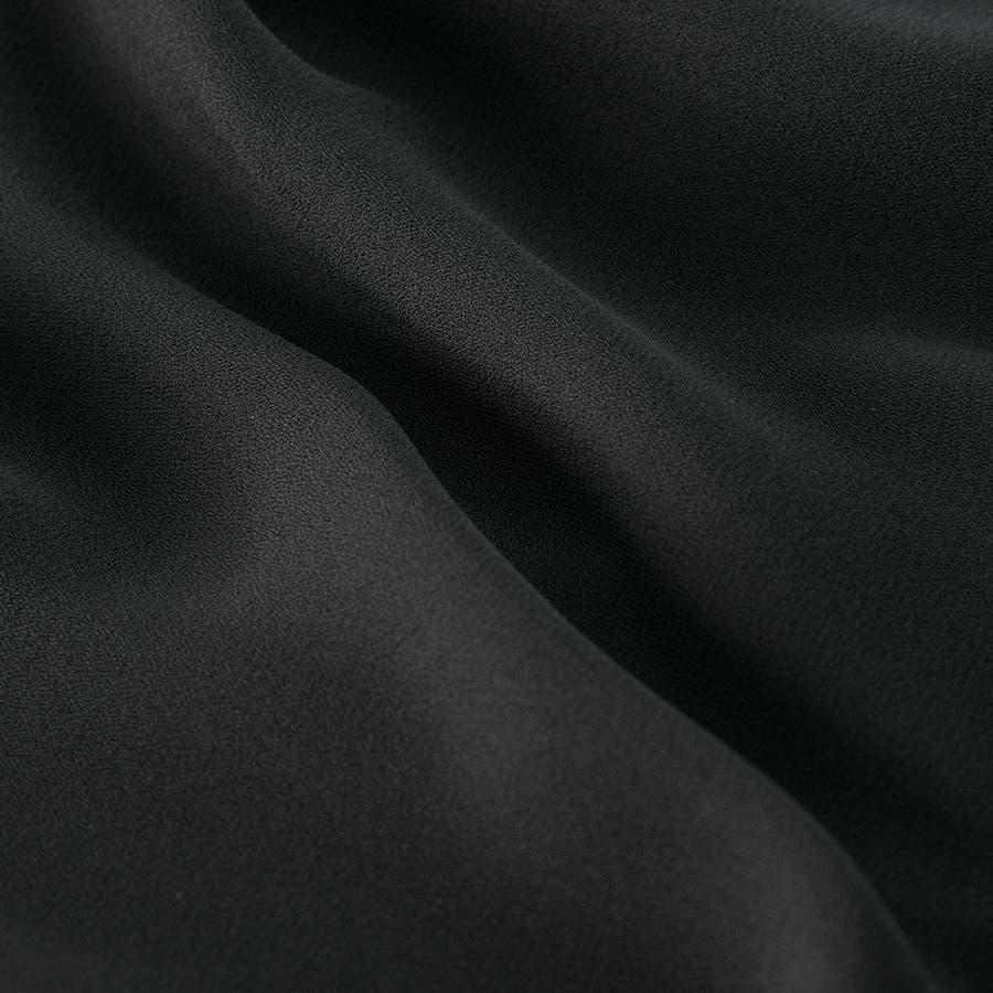 前開きバンドカラーシャツワンピースロング丈 110022642 喪服 ブラックフォーマル 礼服 夏 9