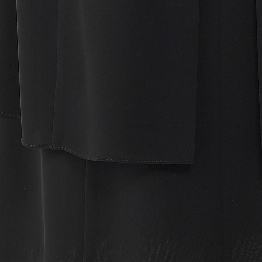 ゆったりサイズの軽やかレイヤードデザインワンピース 110022644 喪服 ブラックフォーマル 礼服 大きいサイズ  6