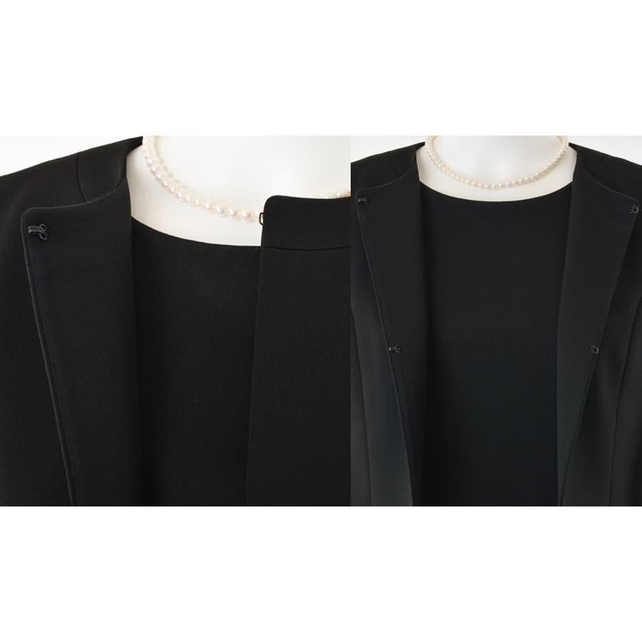 レディースファッション通販 ブラックフォーマルウェア 洗えるニット素材アンサンブル(110631471) 喪服 通夜 法事 入園式 、入学式、 卒園式、 卒業式  6