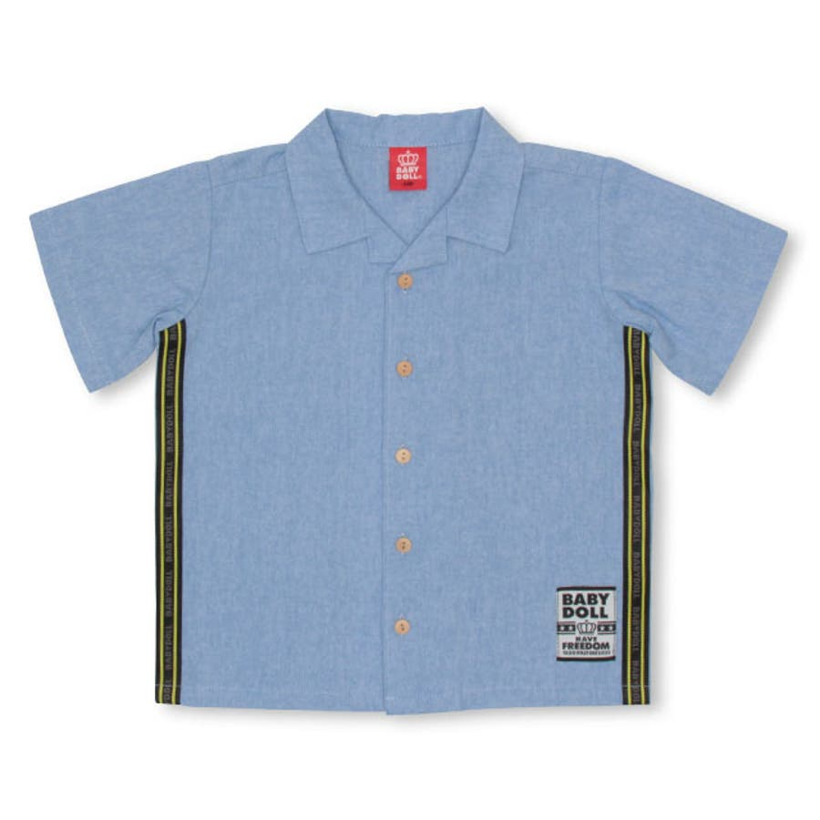 親子お揃い ロゴテープ シャツ 4039K ベビードール BABYDOLL 子供服 ベビー キッズ 男の子 女の子 108