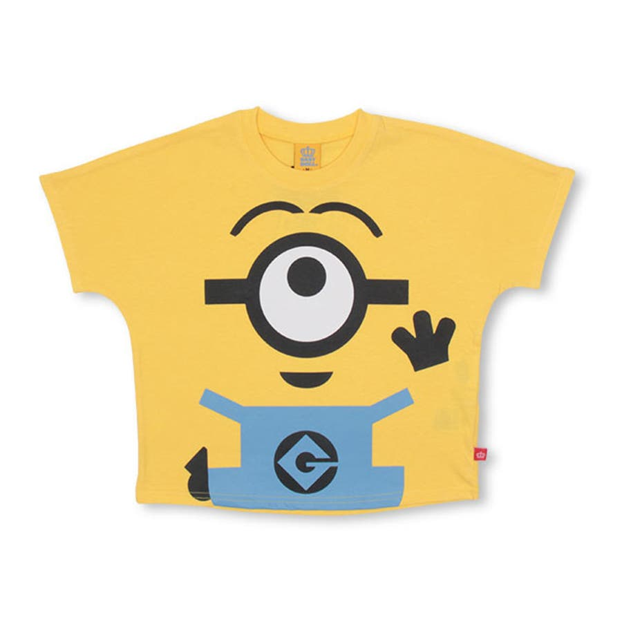 親子お揃い ミニオン BIGキャラクタードルマン Tシャツ 4168K ベビードール BABYDOLL 子供服 ベビー キッズ 男の子女の子 108