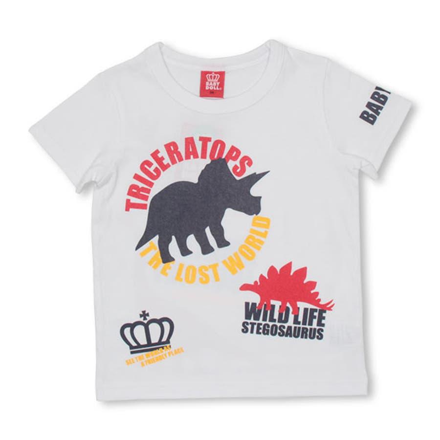 ランダム 恐竜 Tシャツ 4186K ベビードール BABYDOLL 子供服 ベビー キッズ 男の子 女の子 108