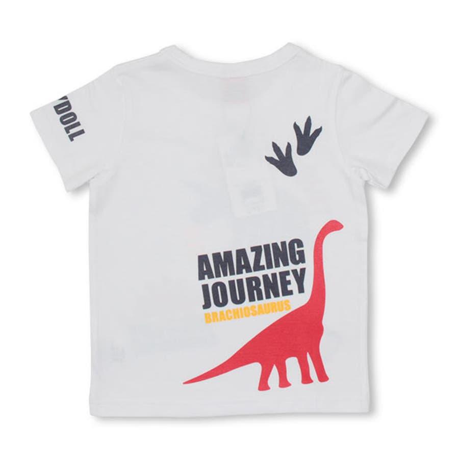 ランダム 恐竜 Tシャツ 4186K ベビードール BABYDOLL 子供服 ベビー キッズ 男の子 女の子 10