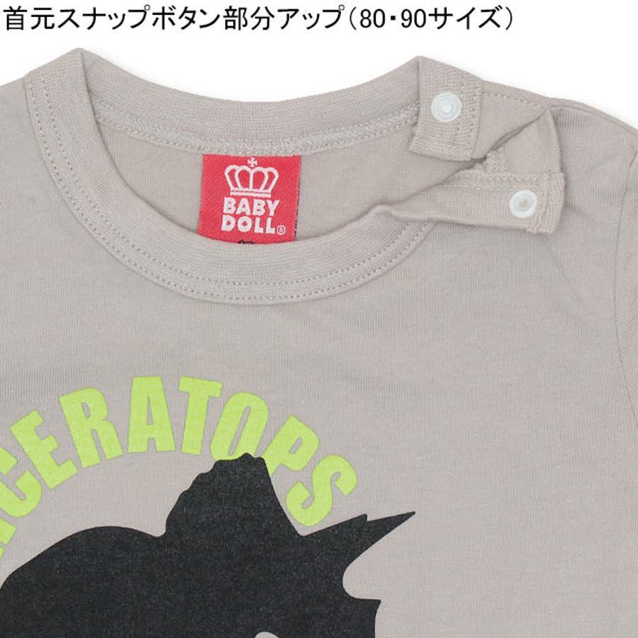 ランダム 恐竜 Tシャツ 4186K ベビードール BABYDOLL 子供服 ベビー キッズ 男の子 女の子 5