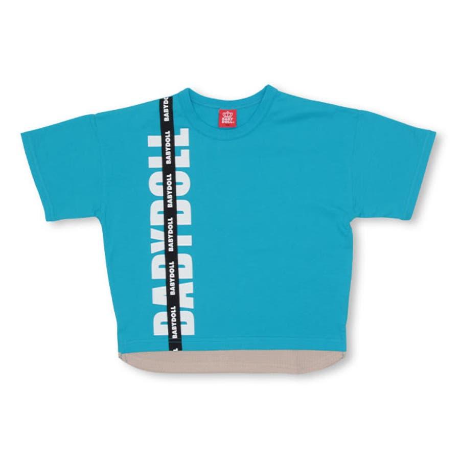 親子お揃い レイヤード Tシャツ 4187K ベビードール BABYDOLL 子供服 ベビー キッズ 男の子 女の子 108