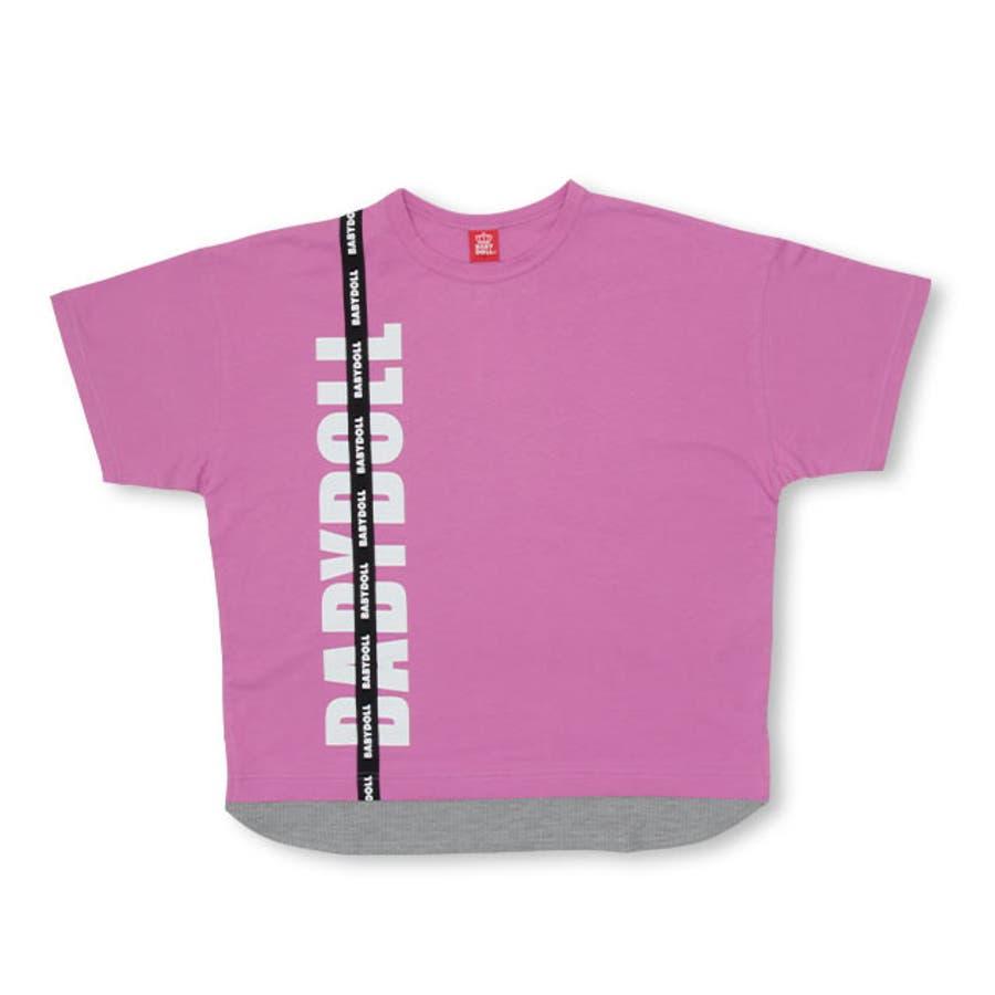 親子お揃い レイヤード Tシャツ 4187A ベビードール BABYDOLL 子供服 大人 ユニセックス 男女兼用 レディース メンズ 108