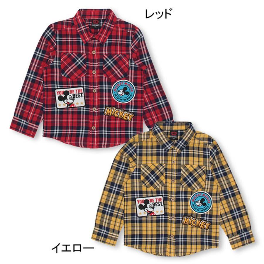 ディズニー ワッペン チェックシャツ 4585K ベビードール BABYDOLL 子供服 ベビー キッズ 男の子 女の子DISNEY★Collection 3