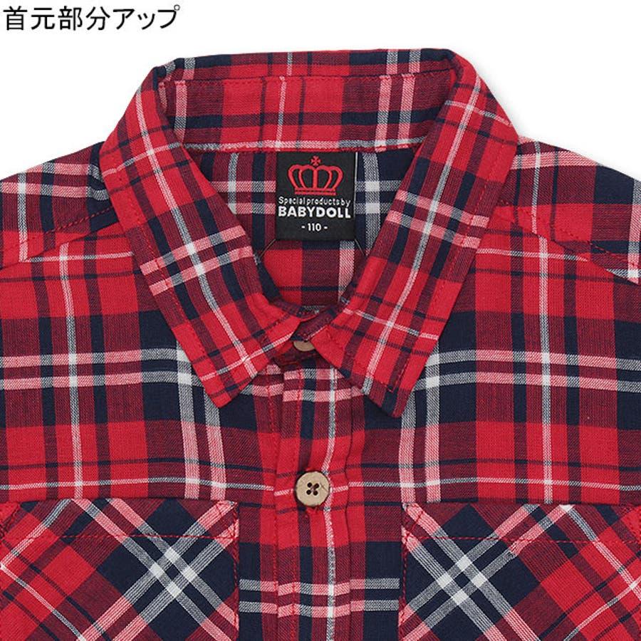 ディズニー ワッペン チェックシャツ 4585K ベビードール BABYDOLL 子供服 ベビー キッズ 男の子 女の子DISNEY★Collection 5