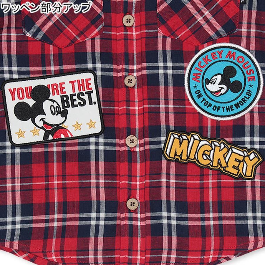 ディズニー ワッペン チェックシャツ 4585K ベビードール BABYDOLL 子供服 ベビー キッズ 男の子 女の子DISNEY★Collection 8