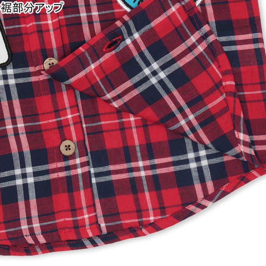 ディズニー ワッペン チェックシャツ 4585A ベビードール BABYDOLL 子供服 大人 レディースDISNEY★Collection 6