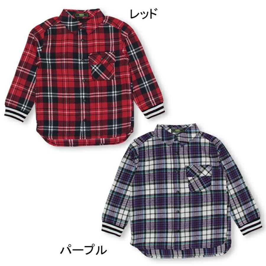 BBDL(ビー・ビー・ディー・エル) バックロゴチェック シャツ 4254K ベビードール BABYDOLL 子供服 ベビー キッズ男の子 女の子 3