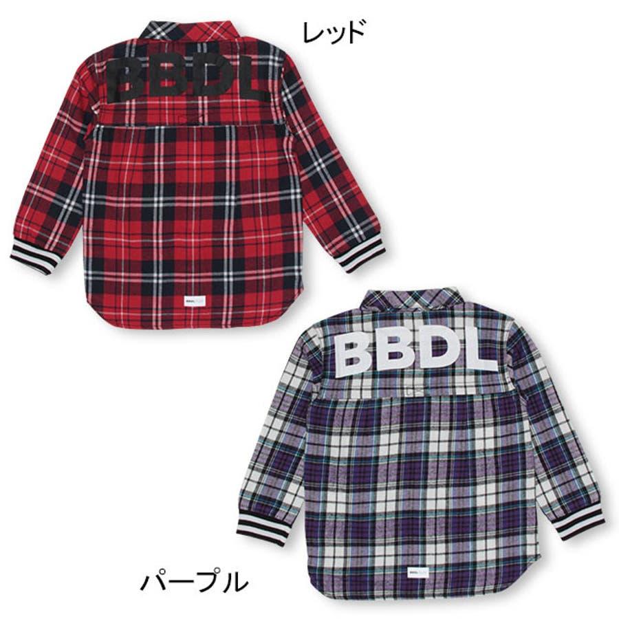 BBDL(ビー・ビー・ディー・エル) バックロゴチェック シャツ 4254K ベビードール BABYDOLL 子供服 ベビー キッズ男の子 女の子 4