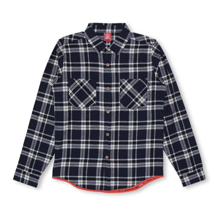 親子お揃い チェック シャツ 4452A ベビードール BABYDOLL 子供服 大人 ユニセックス 男女兼用 レディース メンズ 8