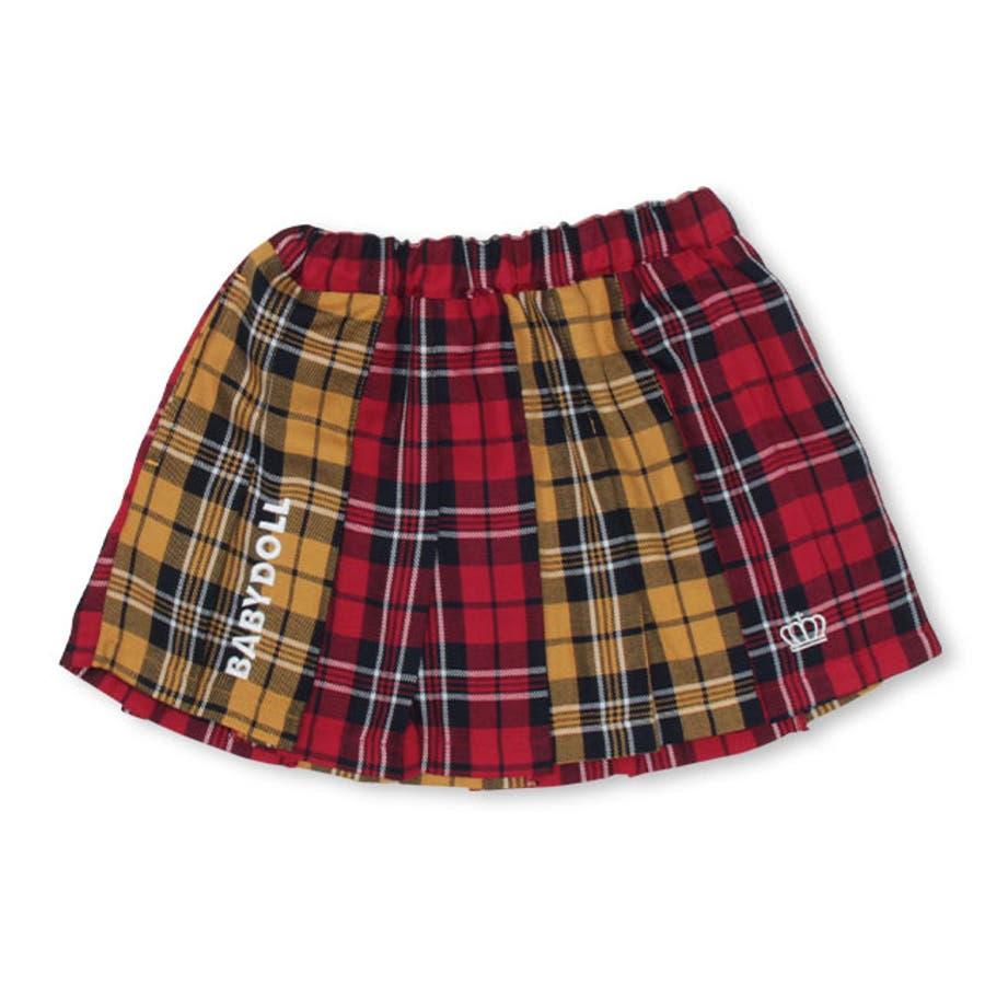 チェック スカート 4453K (トップス別売) ベビードール BABYDOLL 子供服 ベビー キッズ 女の子 108
