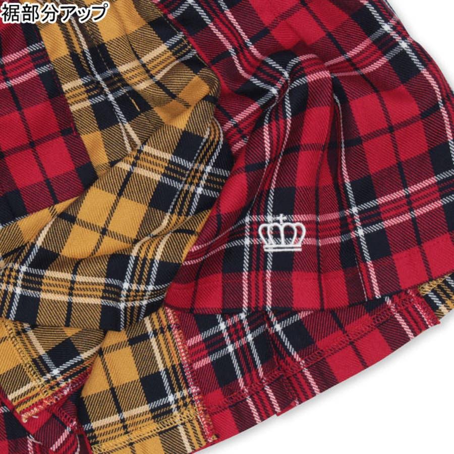チェック スカート 4453K (トップス別売) ベビードール BABYDOLL 子供服 ベビー キッズ 女の子 6