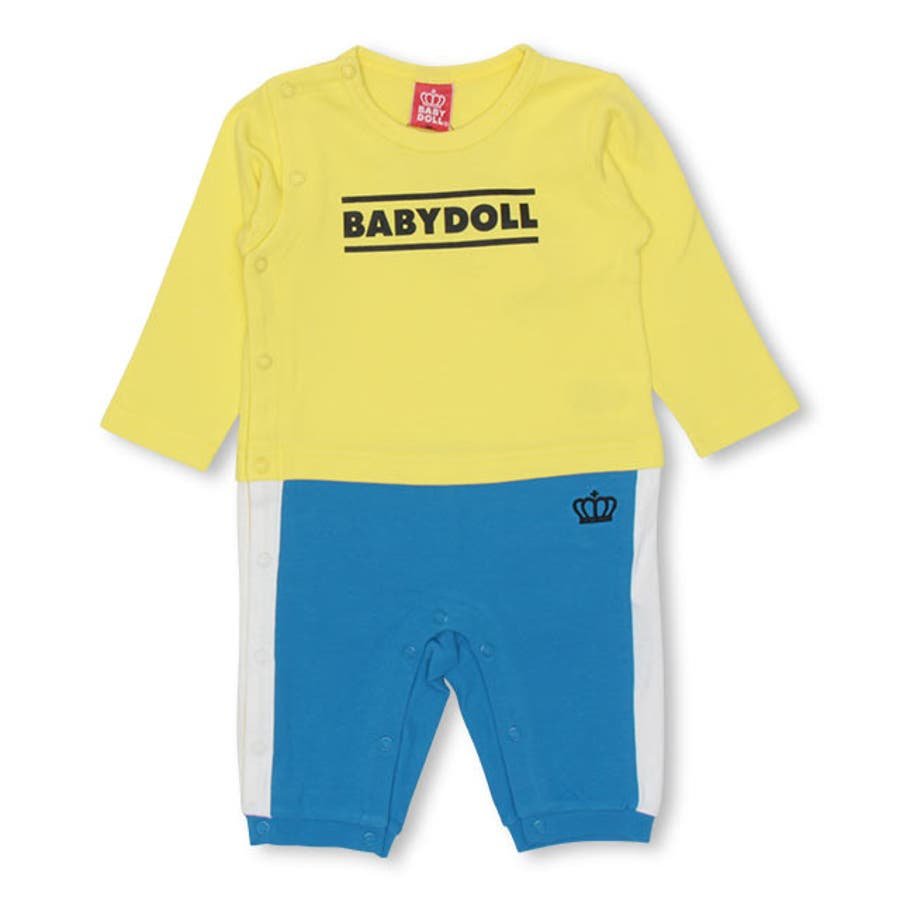 チェック ポケット ロンパース 4455B ベビードール BABYDOLL 子供服 ベビー 男の子 女の子 108