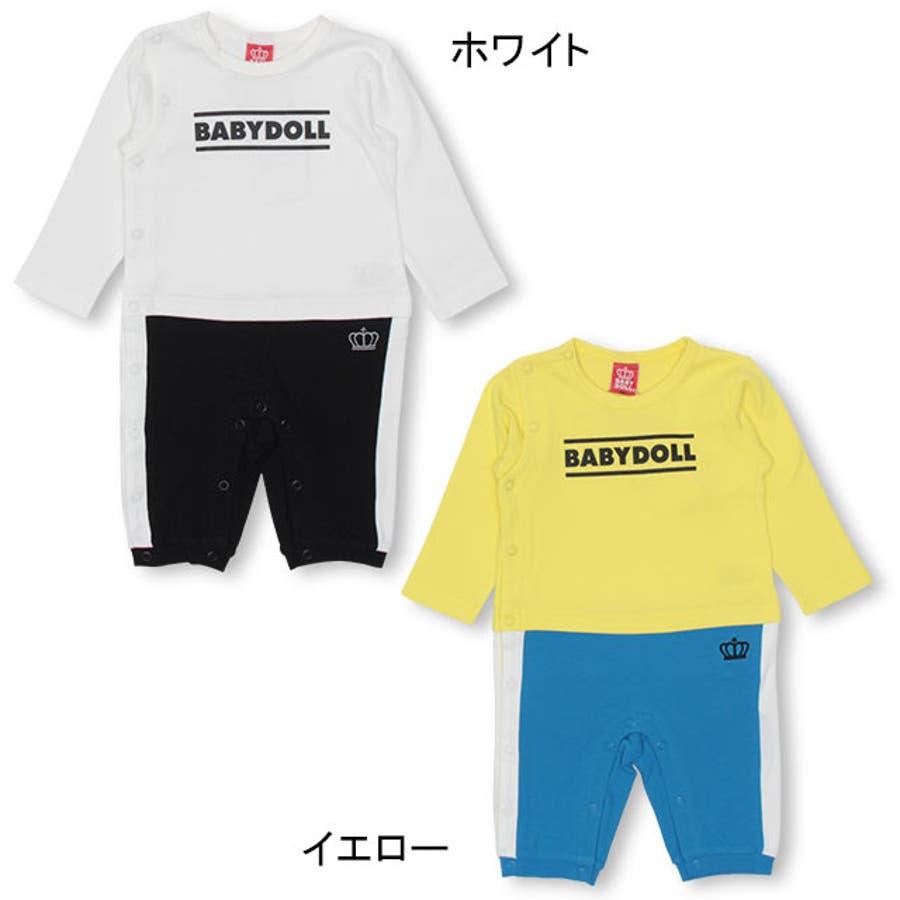 チェック ポケット ロンパース 4455B ベビードール BABYDOLL 子供服 ベビー 男の子 女の子 3